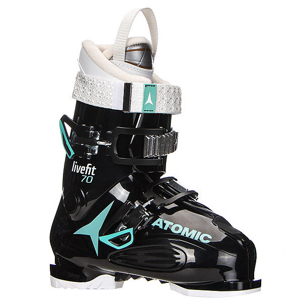 Atomic Live Fit 70 W Womens Ski Boots, Black-Mint-White, 600
