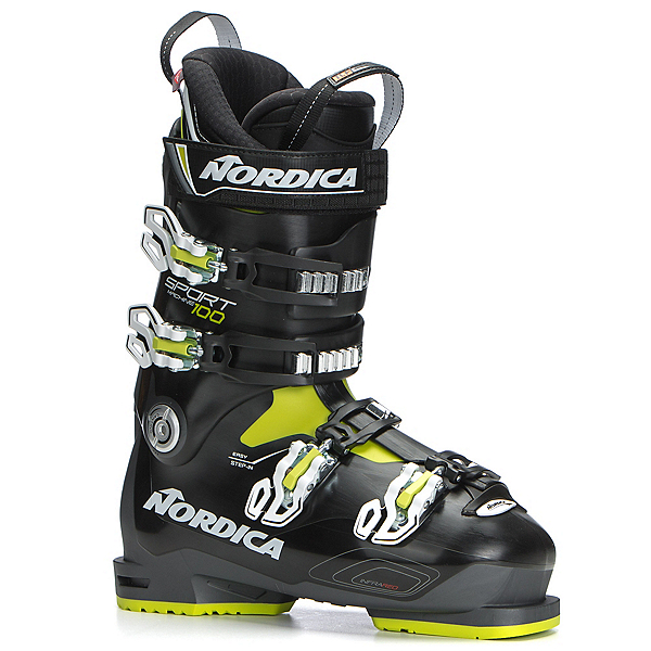 Nordica Sportmachine 100 Ski Boots 2019, Anthracite-Black-Lime, 600