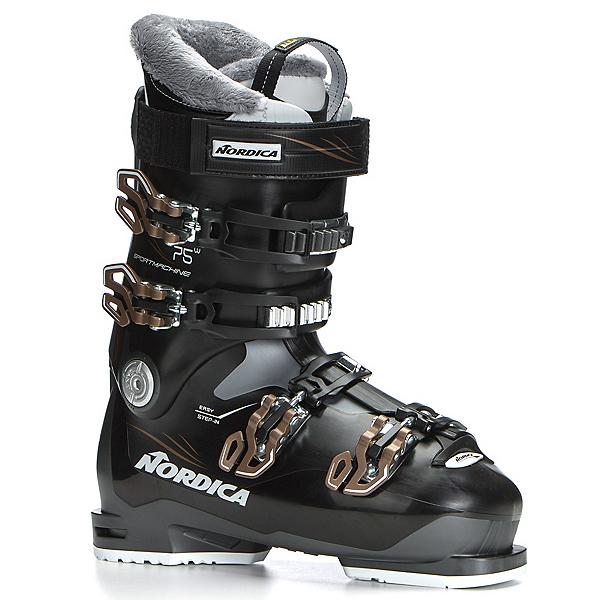 Nordica Sportmachine 75 W Womens Ski Boots 2019, Anthracite-Black-Bronze, 600