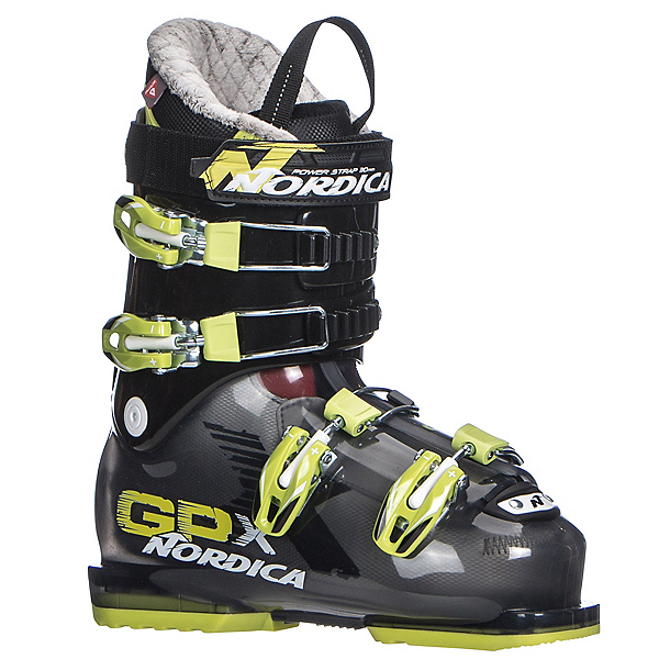 Nordica GPX 70 Kids Ski Boots 2018, Black-Lime, 600