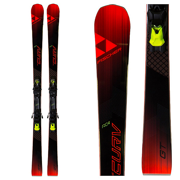 Fischer RC4 The Curv GT Race Skis with MBS 13 Powerrail Bindings 2018, , 600