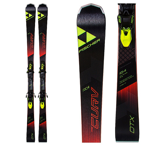 Fischer RC4 The Curv DTX Race Skis with Z12 Powerrail Bindings 2018, , 600