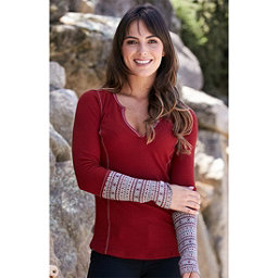 Alp-n-Rock Nieve Henley Womens Shirt, , 256