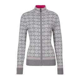 Meister Rose Womens Sweater, Pearl Gray Heather-Winter Whit, 256
