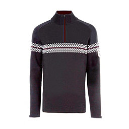 Meister Alex Mens Sweater, Charcoal Heather-Winter White, 256