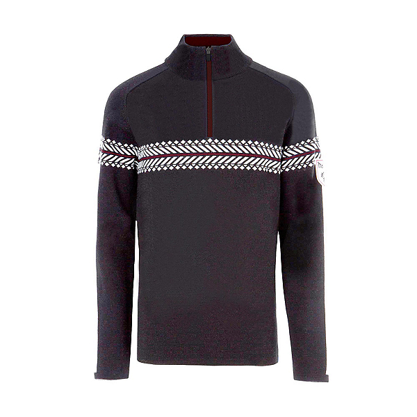 Meister Alex Mens Sweater, Charcoal Heather-Winter White, 600