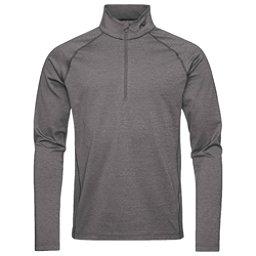 KJUS Second Skin Half Zip Mens Mid Layer, Steel Grey Melange, 256