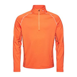 KJUS Diamond Fleece Half Zip Mens Mid Layer, Kjus Orange, 256