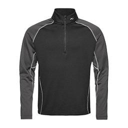 KJUS Diamond Fleece Half Zip Mens Mid Layer, Black-Dark Dusk, 256
