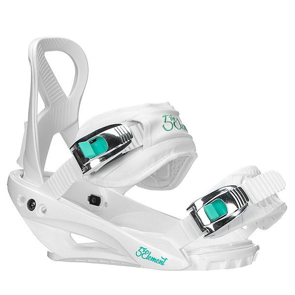 5th Element Layla Womens Snowboard Bindings 2020, White, 600