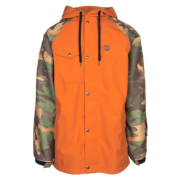ThirtyTwo Knox Mens Shell Snowboard Jacket, Burnt Orange, 600