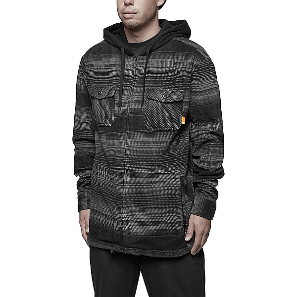 ThirtyTwo Filter Polar Fleece Zip Mens Hoodie, Carbon, 600