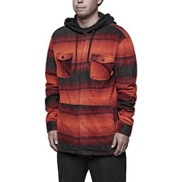 ThirtyTwo Filter Polar Fleece Zip Mens Hoodie, Oxblood, 256
