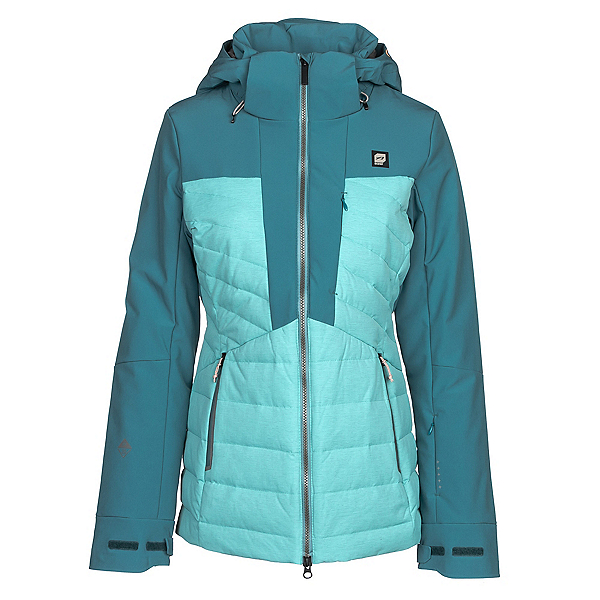 Orage Jasmine Womens Insulated Ski Jacket, Seal Blue, 600
