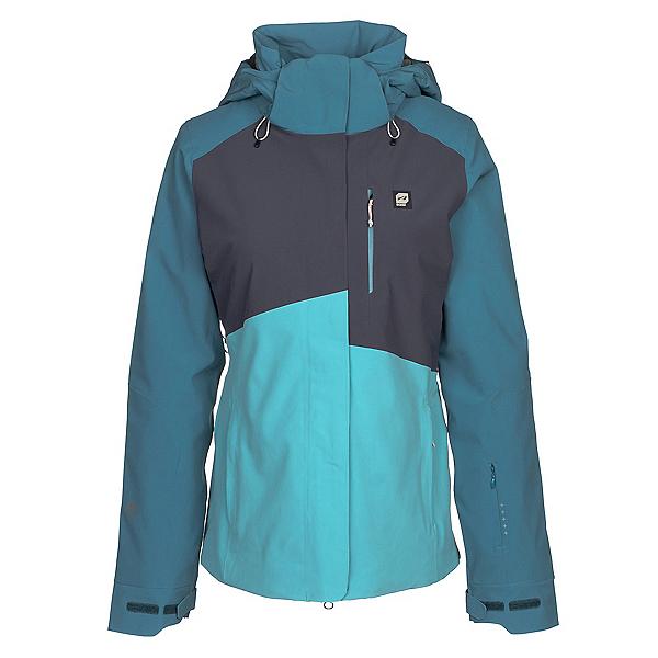 Orage Nina Womens Insulated Ski Jacket, Cyan, 600