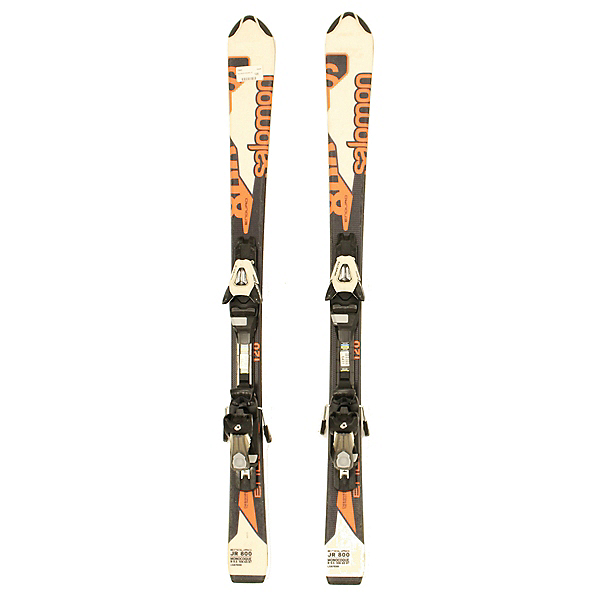 Used 2013 Salomon Enduro JR 800 With Bindings Kids Skis, Has Tip Protectors, 600