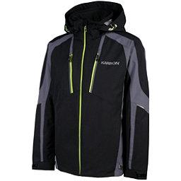 Karbon Aluminum Mens Insulated Ski Jacket, Black-Charcoal-Lime, 256