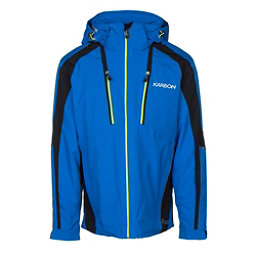 Karbon Aluminum Mens Insulated Ski Jacket, Olympic Blue-Black-Lime, 256