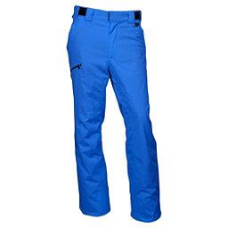 Karbon Silver Trim Short Mens Ski Pants, Olympic Blue-Black, 256