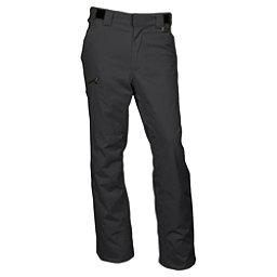 Karbon Silver Trim Short Mens Ski Pants, Black-Black, 256
