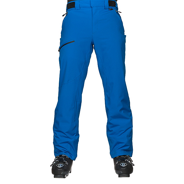Karbon Silver Trim Mens Ski Pants, Olympic Blue-Black, 600