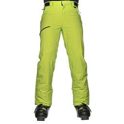Karbon Silver Trim Mens Ski Pants, Lime-Black, 256