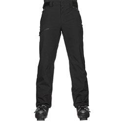 Karbon Silver Trim Mens Ski Pants, Black-Black, 256