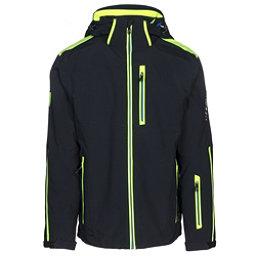 Karbon Apollo Mens Insulated Ski Jacket, Black-Neon Lime-Empire, 256