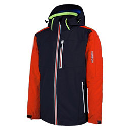 Karbon Apollo Mens Insulated Ski Jacket, Black-Fire-Fire-Neon Lime-Arct, 256