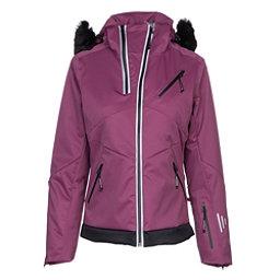 NILS Belinda w/Faux Fur Womens Insulated Ski Jacket, Merlot-Black, 256