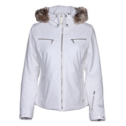 NILS Kirsten w/Faux Fur Womens Insulated Ski Jacket, White, 256