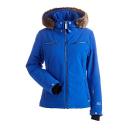 NILS Kirsten w/Faux Fur Womens Insulated Ski Jacket, Blue Blaze, 256