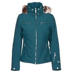 NILS Kirsten w/Faux Fur Womens Insulated Ski Jacket, Forest Green, 256