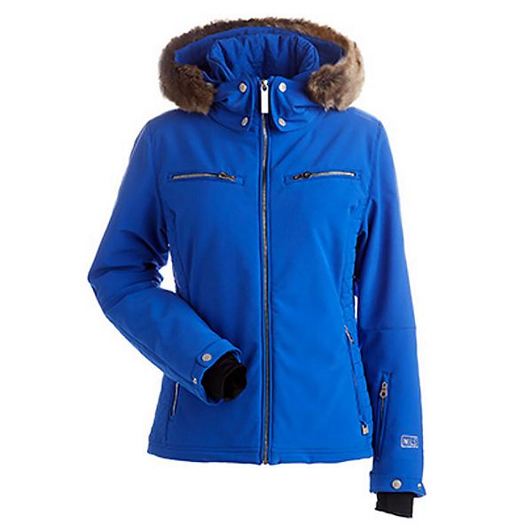 NILS Kirsten w/Faux Fur Womens Insulated Ski Jacket, Blue Blaze, 600