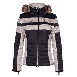 NILS Ida w/Faux Fur Womens Insulated Ski Jacket, Black-Champagne, 256