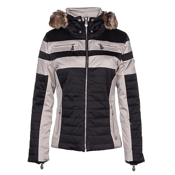 NILS Ida w/Faux Fur Womens Insulated Ski Jacket, Black-Champagne, 600