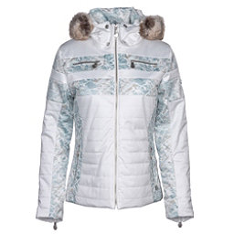 NILS Ida w/Faux Fur Womens Insulated Ski Jacket, Winter White-Fjord Print, 256