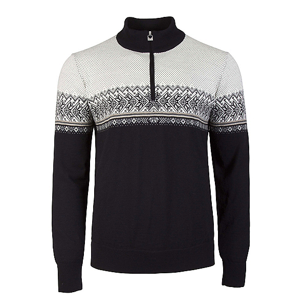 Dale Of Norway Hovden Masculine Mens Sweater, Black-Light Charcoal-Smoke-Bei, 600