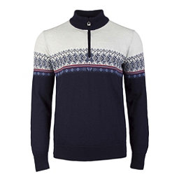 Dale Of Norway Hovden Masculine Mens Sweater, Navy-Blue Shadow-Indigo-Raspbe, 256