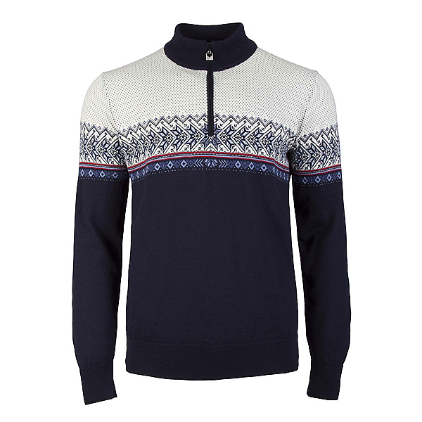Dale Of Norway Hovden Masculine Mens Sweater, Navy-Blue Shadow-Indigo-Raspbe, 600