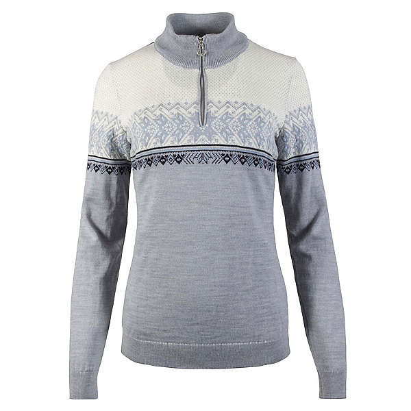 Dale Of Norway Hovden Feminine Womens Sweater, Grey-Ice Blue-Navy-Off White, 600