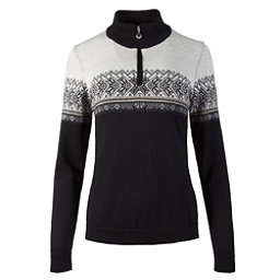 Dale Of Norway Hovden Feminine Womens Sweater, Black-Light Charcoal-Smoke-Bei, 256