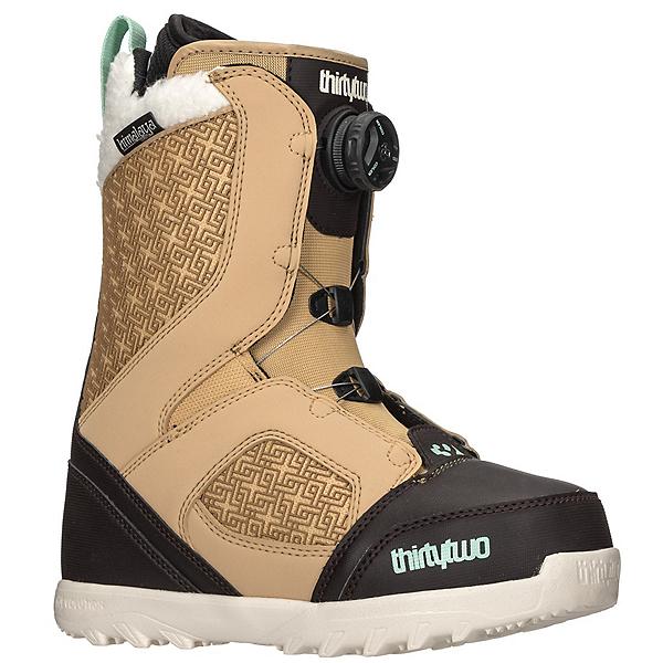 ThirtyTwo STW Boa Womens Snowboard Boots, Tan-Black, 600