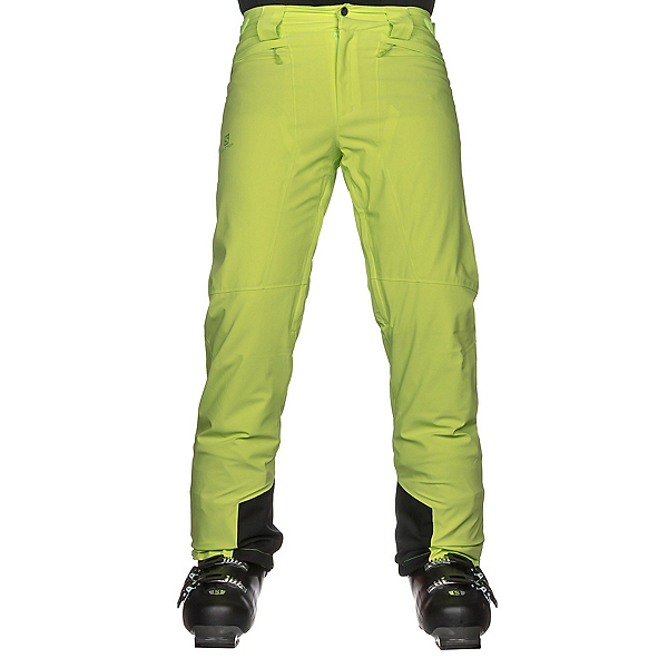 Salomon Icemania Mens Ski Pants, Acid Lime, 600