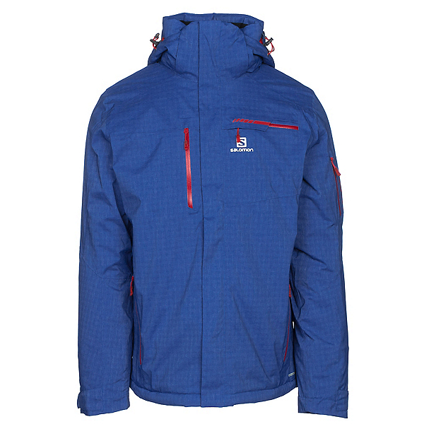 Salomon Brilliant + Mens Insulated Ski Jacket, Surf The Web Heather, 600