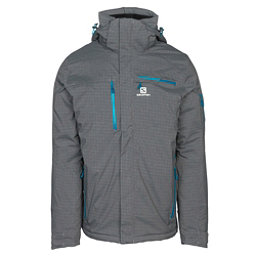 Salomon Brilliant + Mens Insulated Ski Jacket, Quiet Shade Heather, 256