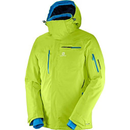 Salomon Brilliant Mens Insulated Ski Jacket, Acid Lime, 256