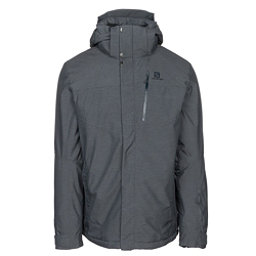 Salomon Fantasy Mens Insulated Ski Jacket, Medium Grey Heather, 256