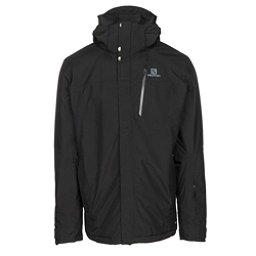 Salomon Fantasy Mens Insulated Ski Jacket, Black Heather, 256