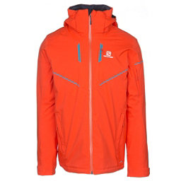 Salomon Stormrace Mens Insulated Ski Jacket, Vivid Orange, 256
